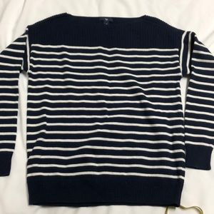 Gap navy and white stripe sweater Sz M